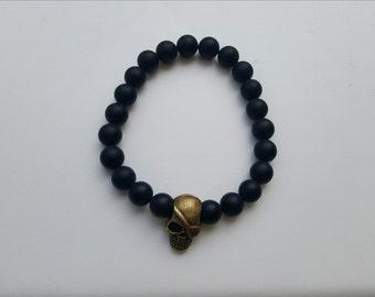 Pirate Skull - Beaded Bracelet