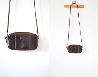 Vintage 90s Rosetti Brown Faux Leather Cross-body Bag
