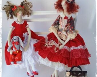 Interior doll Tilda, boho style