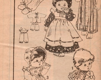 Vintage Mail Order Baby Doll Wardrobe Clothes Pattern 5500 (Size Large 17 to 18 inch) UNCUT