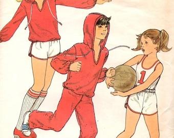 Girls' T-Shirt, Hoodie, Sweats, Basketball Shirt and Shorts Butterick 5908 UNCUT Pattern Size 12