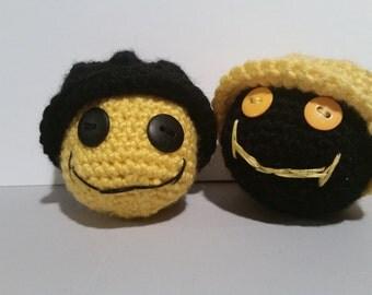 Amigurumi Smiley, Crochet Smiley, Crochet Smiley with Hat
