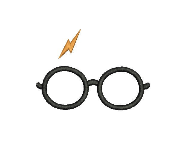 Harry potter embroidery design glasses by