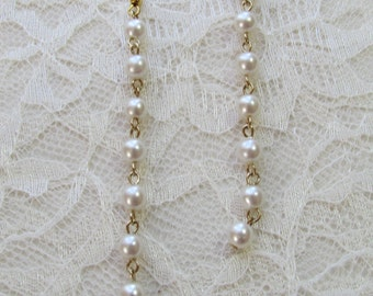 Faux Pearl Duster Earrings