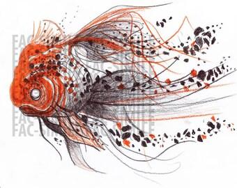 The Golden Fish 60x60cm Forex