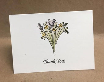Thank You cards and envelopes (Pack of 6)