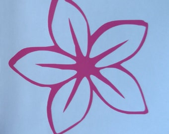 Flower Decal permanent vinyl - perfect for car windows, dorm room doors, Yeti & Rtic tumbler cups, coolers, lockers, etc. Decal only.