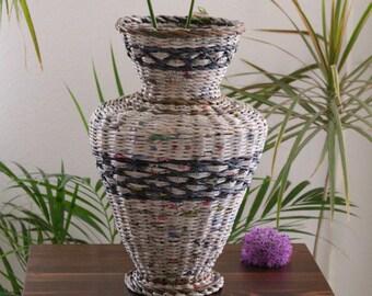 decode newsprint vase, tall vase, floor vase