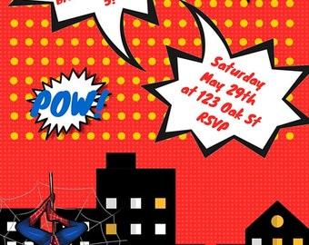 Custom Superhero Invitations
