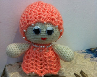 Doll - Little Knitted Doll - Amigurumi Knitted Doll - Hand-knitted Doll  - KnittedToy