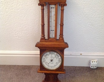 A late Victorian aneroid barometer