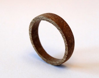 """Chocolate"" ring in Walnut Brown wood"