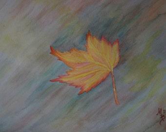 Floating Leaf Watercolor