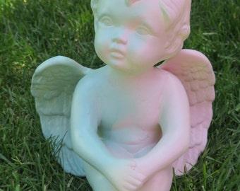 Dual-tone Pastel Cherub Figurine