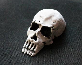 Skull wall art Skull home decor Skull sculpture Skull art Paper mache skull Skull decoration Skull macabre wall art Morbid wall art