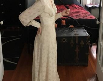Vintage Prairie Dress Wedding Boho Hippie 1970s