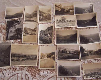 19 Vintage Photographs Mountains Grass Trees Fields Country Scenes Views