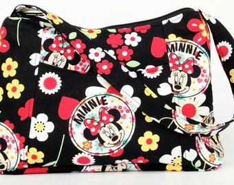 Minnie Mouse Fabric Purse, Fabric Handbag, Casual Purse, Shoulder bag