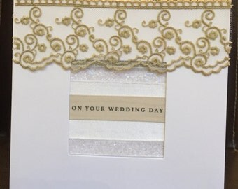 Hand-crafted wedding card.