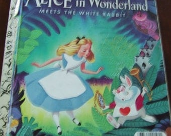 ALICE IN WONDERLAND meets the White Rabbit ~ 1951 A Little Golden Book
