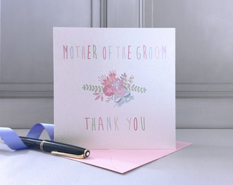 Mother Of The Groom Thank You Card - Mother Of The Groom Card - Thank You Card - Wedding Thanks Card