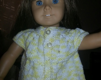 Hand Knit American Girl Doll top