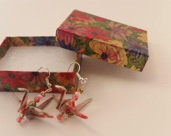 Origami Earrings Crane