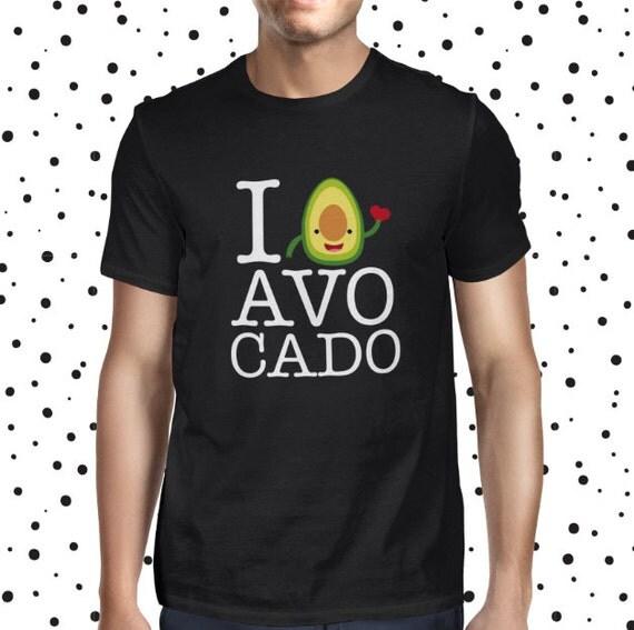 Avocado Love Vegan Tee - Male Veggie Shirt - Casual - Vegan Tshirt - Mens Vegan Clothing - Healthy - Funny Tee - Vegetarian - Plant-based