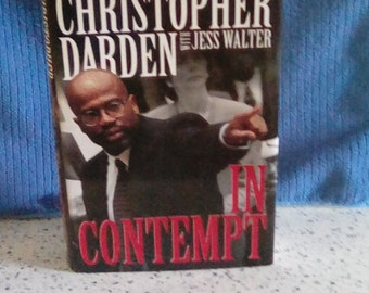 """Signed First Edition of """"In Contempt"""" by Christopher Darden"""