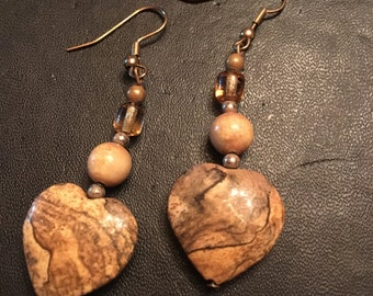 Large stone hearts