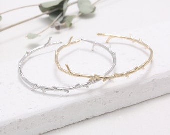 Twig Thornbush Branch Cuff Bracelet