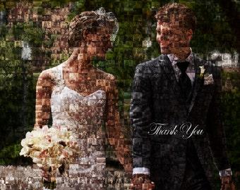 Wedding Mosaic Thank You Card