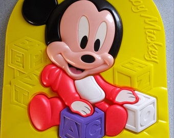 CLEARANCE SALE 50% Off 1980's DISNEY Baby Mickey Mouse Puzzle/Gamesand Puzzles, Vintage