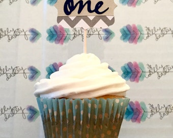 1st Birthday Cupcake Toppers