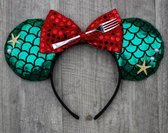 Princess Ariel Inspired Mouse Ears