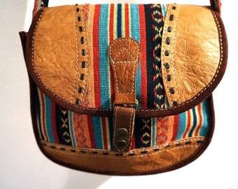 Tibet Leather Messenger Bag