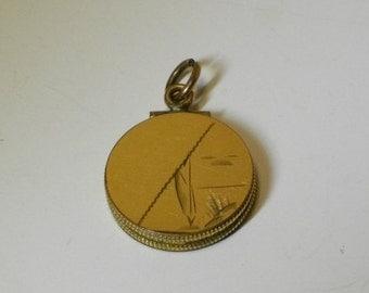 Antique Edwardian Gold Filled Watch Fob Locket Pendant