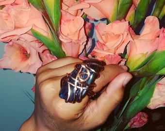 Blue Tigress Ring