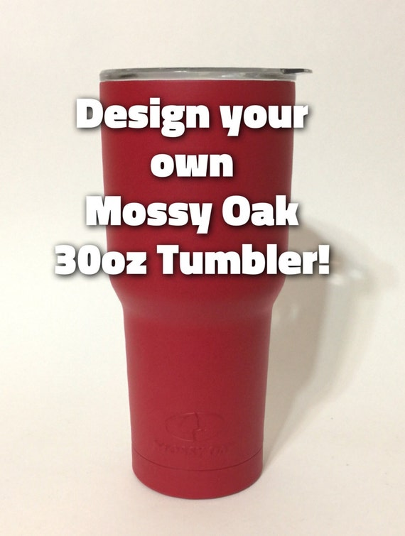 Personalized Mossy Oak Tumbler Red Powder Coated By