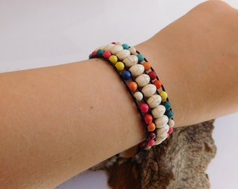 Colorful Braided Howlite Stone Bracelet_GDE.045100083547_Fashion accessories_Gift iDEAS