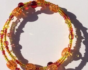 Flame Memory Wire Bracelet