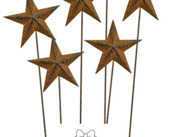 "Rusty Star Picks, 14"" High   3"" Star  3/pk"