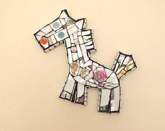 wee horse mosaic