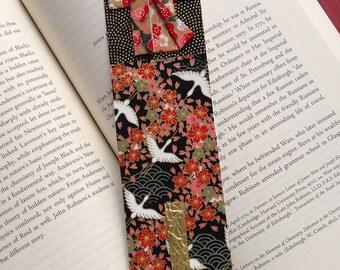 Kimono Bookmark (red pattern)
