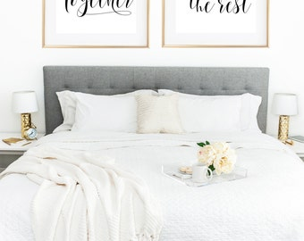 Couple Print, We Were Together I Forget The Rest, Couple Wall Art, Love