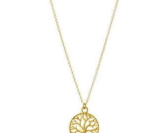Tree Necklace, Gold Necklace, Chain Necklace