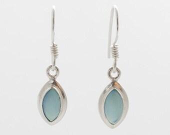 Chalcedony Earrings - Silver Earrings - Dangle & Drop Earrings - Gemstone Earrings - Chalcedony Silver Earrings - Handmade Earrings
