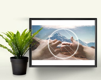 Grasping Reality - A4 Graphic Print. A Perfect Gift for the Home. Photographic Art Design.