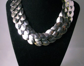 Scale Mail Necklace Stainless Steel Chainmail