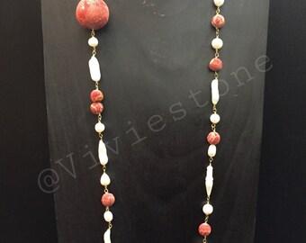 Fine stone necklace